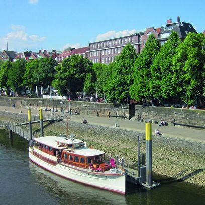 Blick auf die Schlachte und die Weser