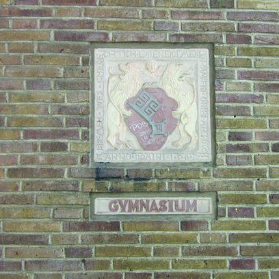 Ornament Bremer Schlüssel in einer Wand eingelassen