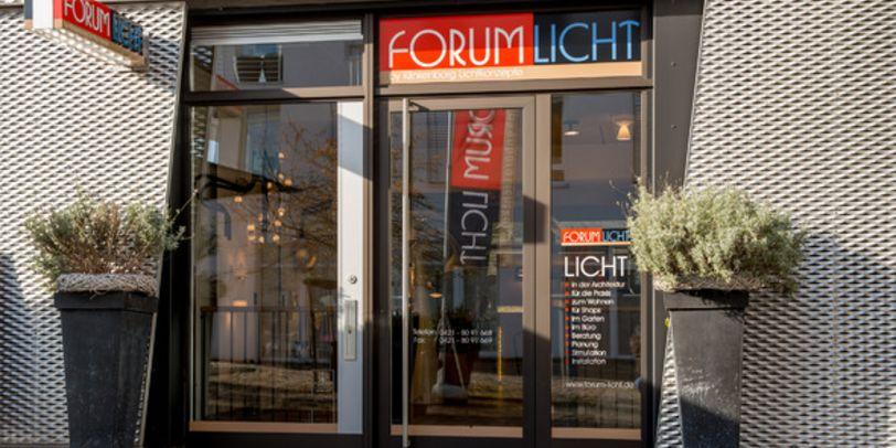 Der Eingang von Forum Licht