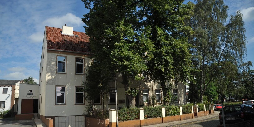 Außenansicht der Bremer Kokosweberei.