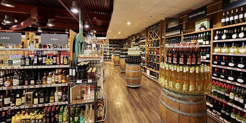Blick in die Weinabteilung von Lestra