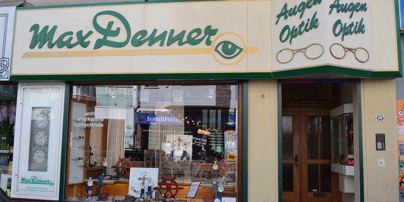 Außenansicht des Geschäfts Max Denner.
