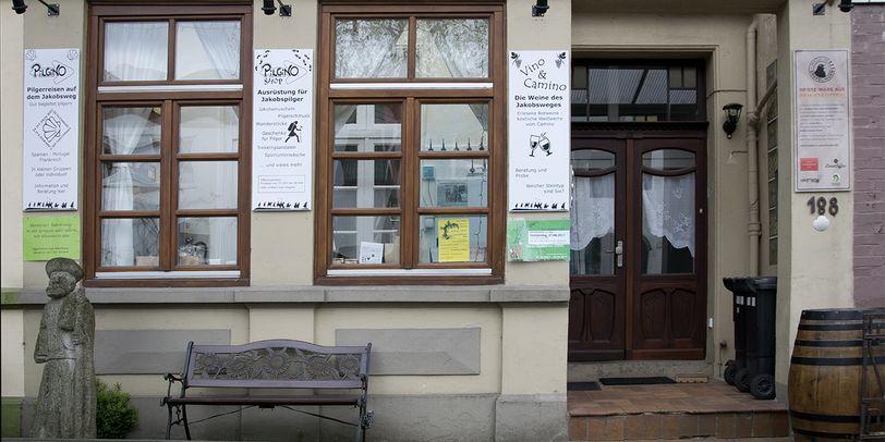Eine Außenaufnahme des Geschäfts Pilgino