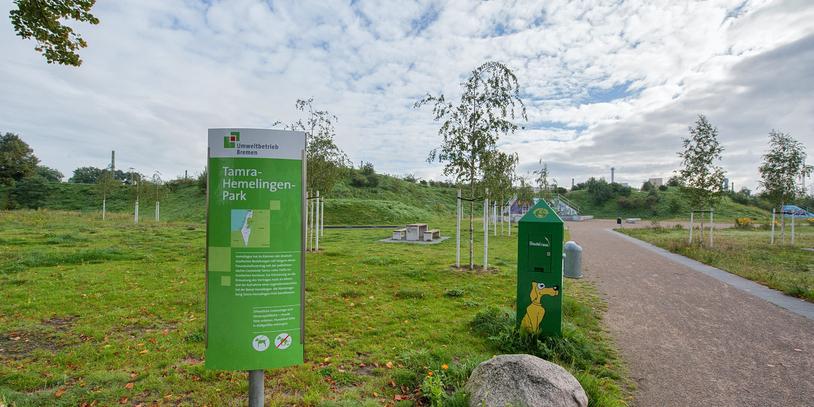 Eine Aufnahme aus dem Tamra-Hemelingen-Park.