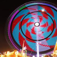 Buntes Riesenrad auf dem Freimarkt