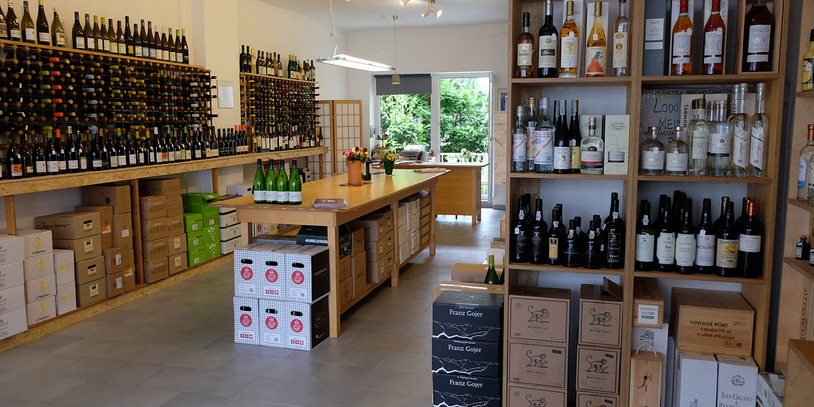 Innenansicht Lowin Weinhandel