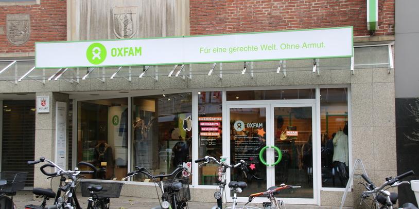 Aussenansicht Oxfam Shop Bremen; Quelle: Katharina Bünn