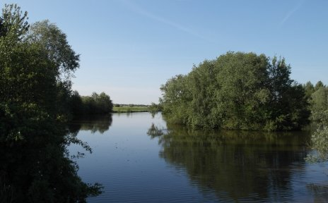 Die Ochtum im Park Links der Weser
