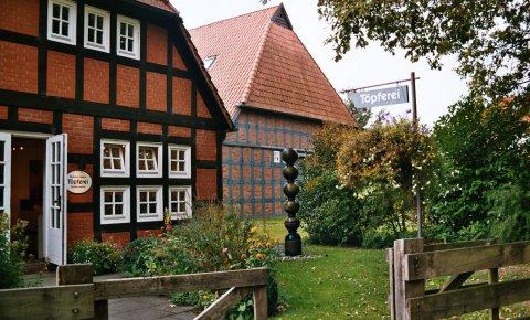 Ein Fachwerkhaus in Fischerhude.