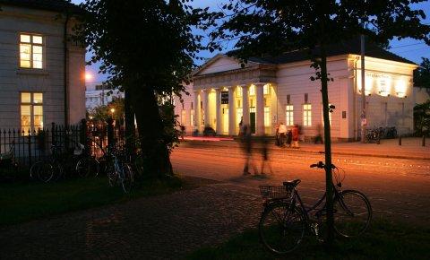 Nächtlicher Blick auf das Gerhard-Marcks-Haus