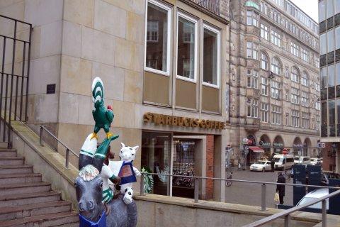 Starbucks in der Innenstadt Café Außenansicht