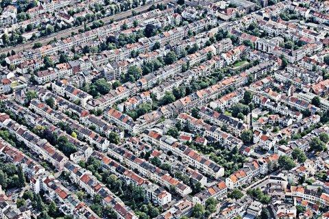 Ansicht auf Bremen aus der Luftperspektive