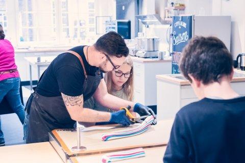 Workshop in der Bremer Bonbon Manufaktur