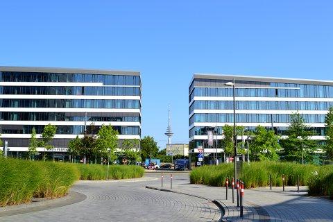 """Das """"Eins""""-Gebäude im Weserquartier von vorne"""