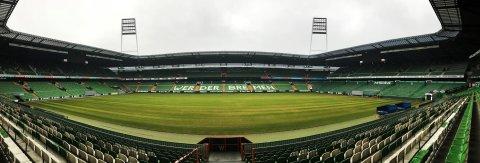 Panoramaaufnahme des Weser-Stadions von innen