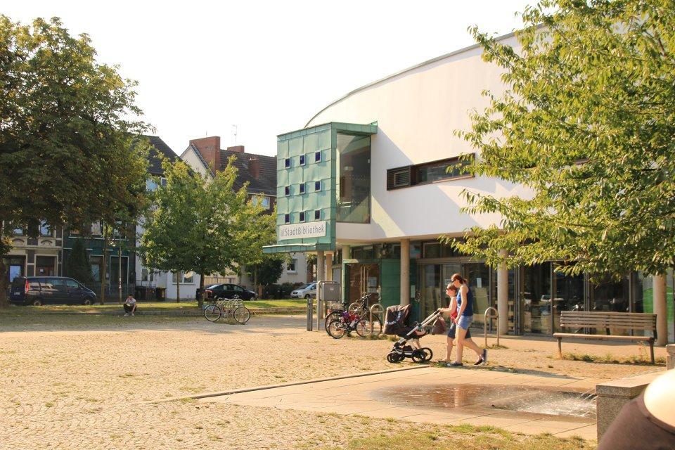 Die Stadtbibliothek West in Gröpelingen (Quelle: WFB/bremen.online).